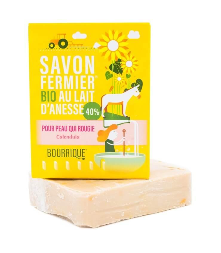 Savon Calendula 40% lait d'ânesse - Laboratoire Paysane