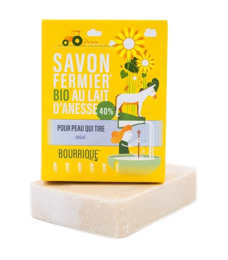 Savon Miel 40% lait d'ânesse - Laboratoire Paysane (Bourrique)