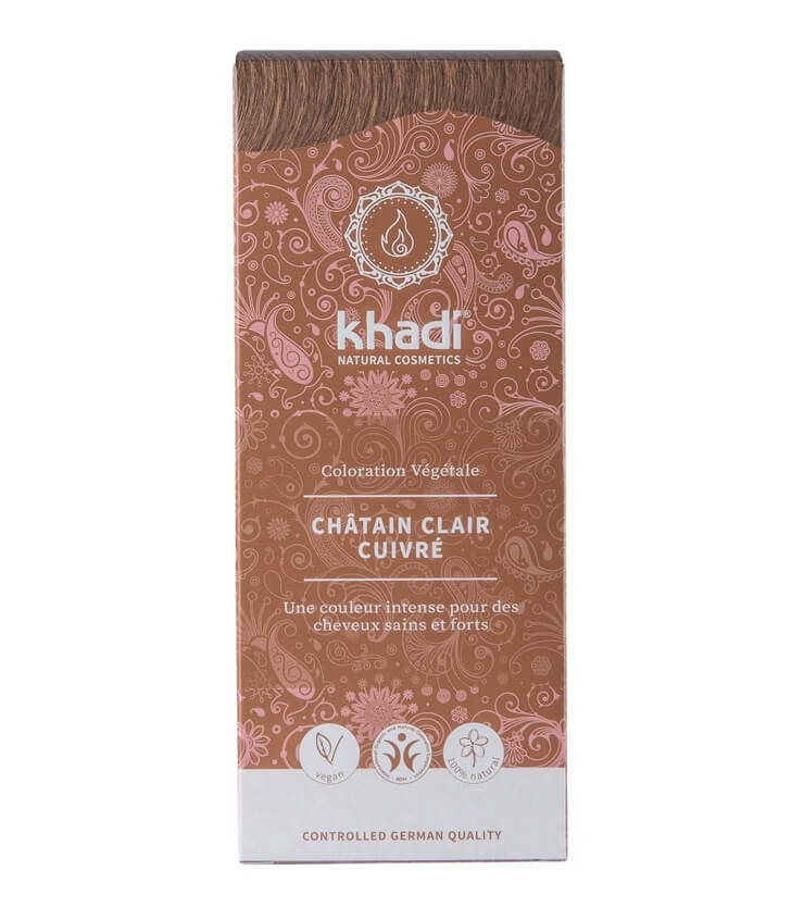 Coloration Végétale Chatain Clair Cuivre - Khadi
