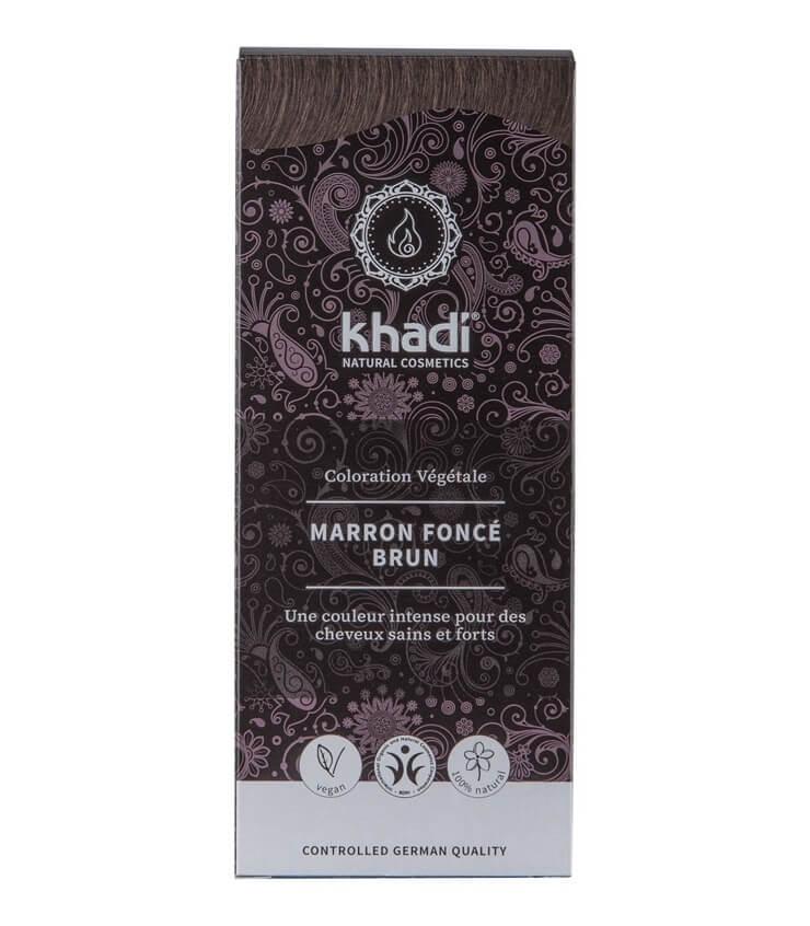 Coloration Végétale Marron foncé brun - Khadi