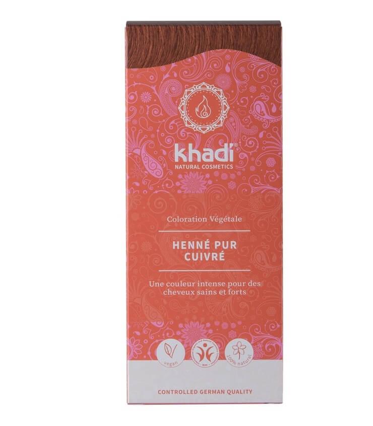 Coloration Végétale Henné pur cuivré - Khadi