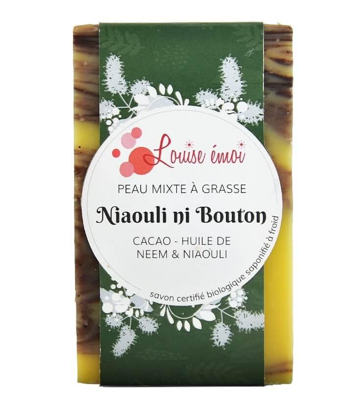 "Savon surgras bio pour les peaux grasses ""Ni bouton Niaouli"" de Louise Emoi"