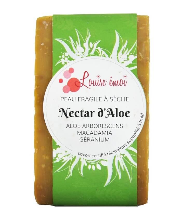 """Savon surgras à froid """"Nectar d'Aloé"""" de Louise Emoi"""
