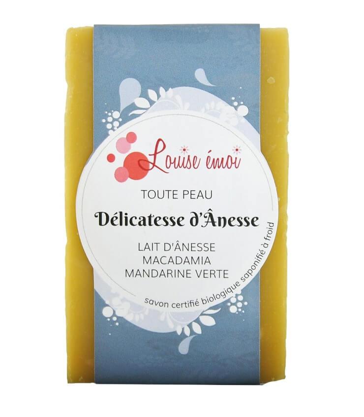 """Savon naturel """"Délicatesse d'Ânesse"""" au lait d'ânesse louiseemoi.com"""