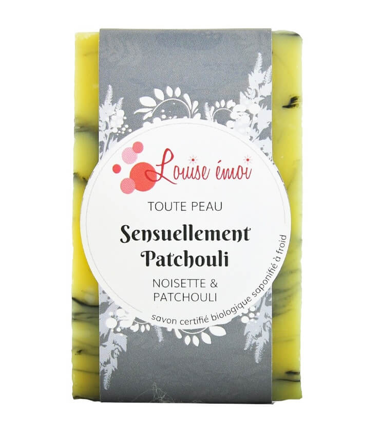 """Savon à froid """"Sensuellement Patchouli"""" de Louise Emoi"""