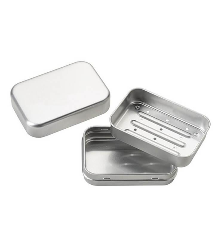 Boîte à savon Aluminium avec égouttoir