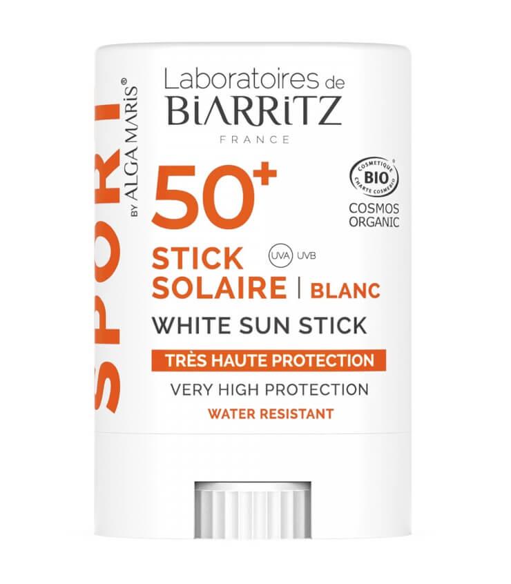 Stick solaire SPF50+ certifié Bio Algamaris Laboratoire de Biarritz