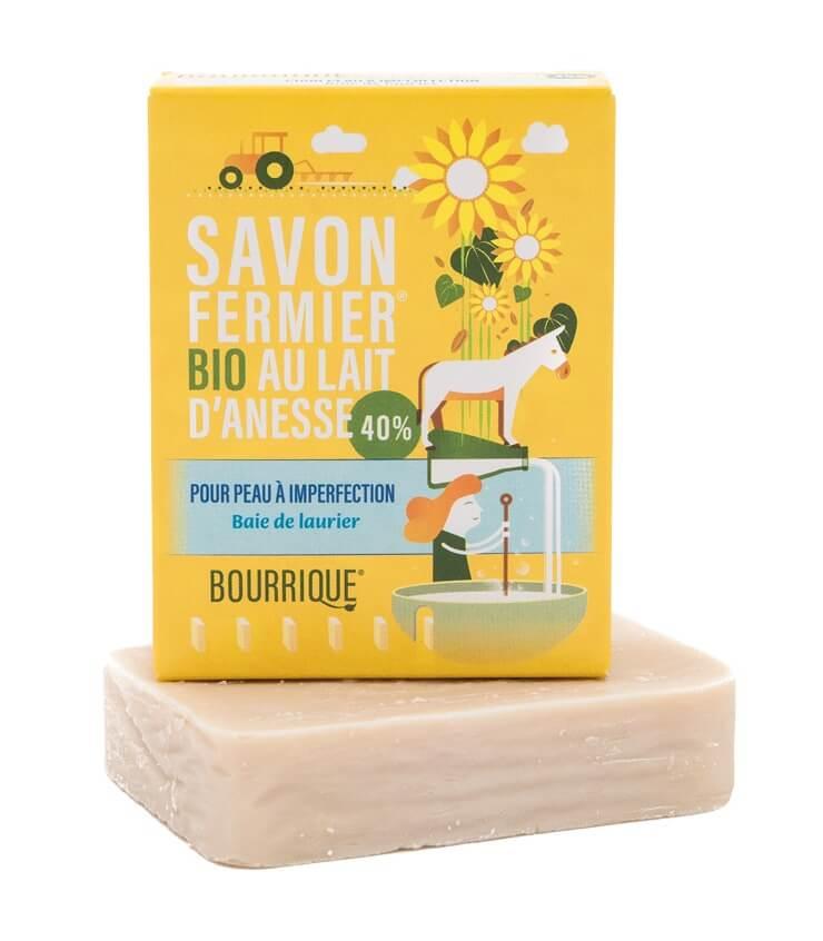 Savon Baie de laurier 40% lait d'ânesse - Laboratoire Paysane Bourrique