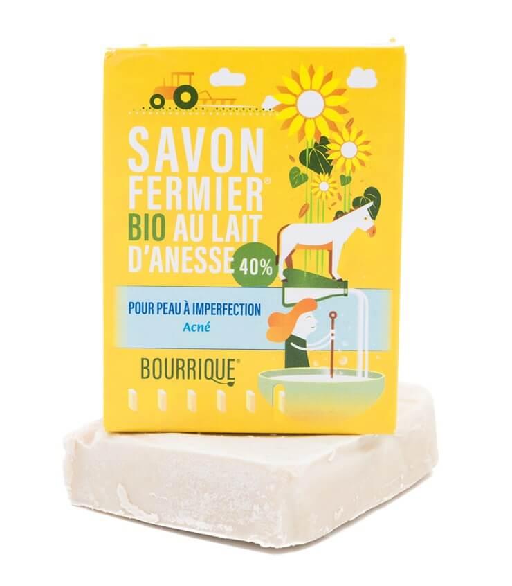 Savon Acné 25% lait d'ânesse - Laboratoire Paysane (Bourrique)