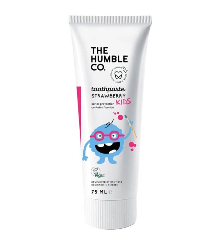 Dentifrice naturel Fraise pour enfants - The Humble Co.