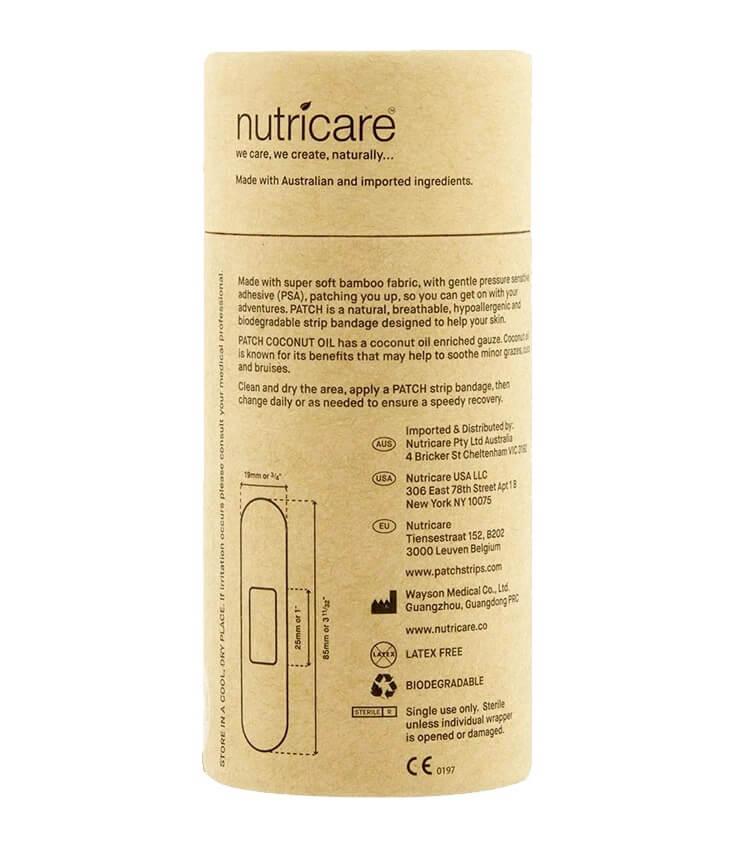 Pansements 100% naturel en fibre de bambou et huile de coco - Patch