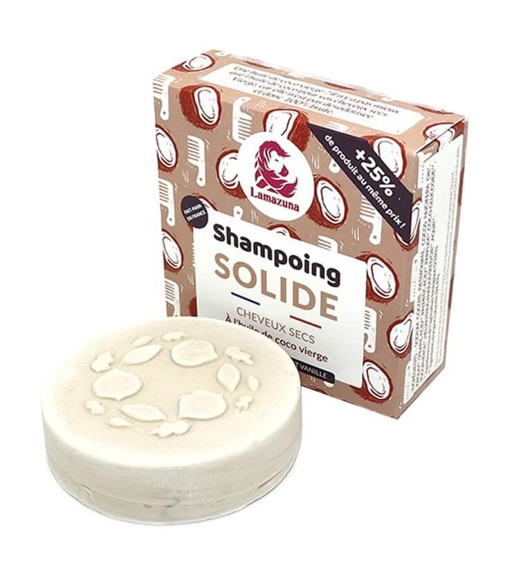 Shampoing solide cheveux secs Huile de coco - Lamazuna