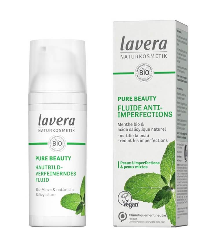 Fluide anti-imperfections Lavera cosmétique naturelle