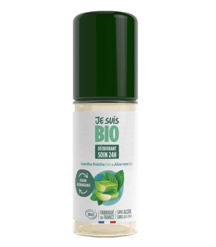 Déodorant roll-on Menthe fraîche Aloe vera - Je suis Bio