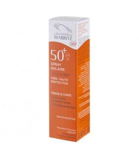Spray solaire SPF50+ certifié Bio Alga Maris Laboratoire de Biarritz