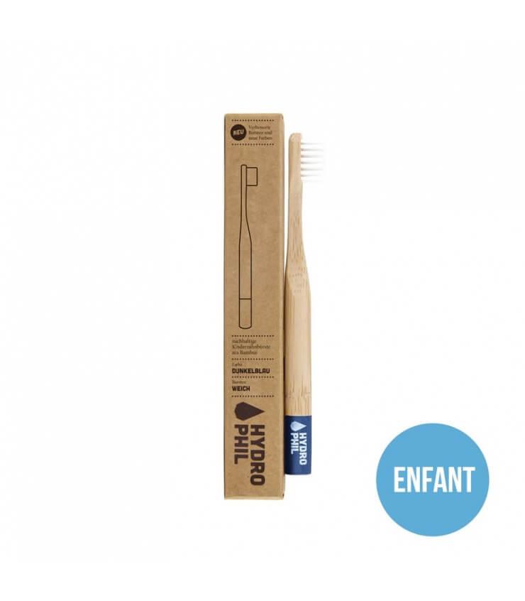 Brosse à dents durable pour Enfant Hydrophil en bois bleu