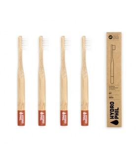 Brosse à dents durable pour Enfant Rouge en bois Hydrophil Ecologique