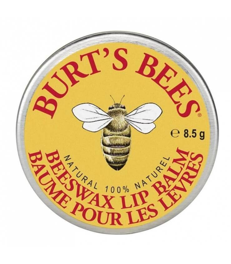 Baume à lèvres Cire d'abeille en boîte Burt's Bees Beeswax Lip Balm Tin