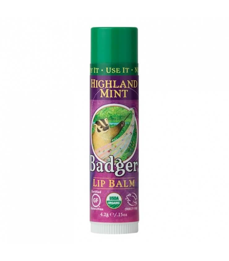 Baume à lèvres Menthe des montagnes Highland Mint Badger Balm