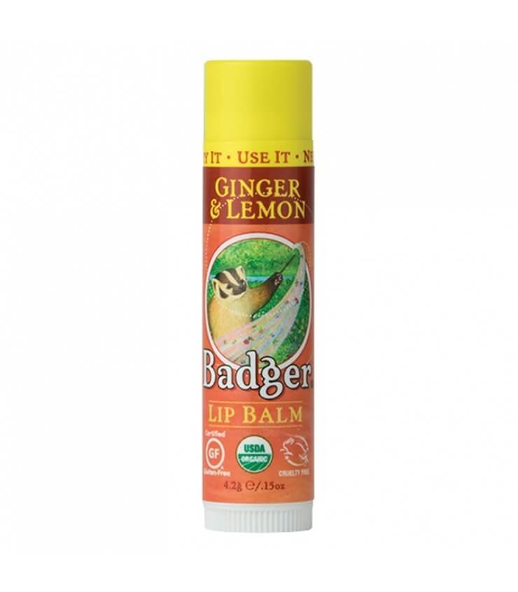 Baume à lèvres Gingembre & Citron Ginger Lemon Stick Badger Balm