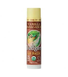 Baume à lèvres Vanille de Madagascar Lip Balm Stick natural Badger Balm
