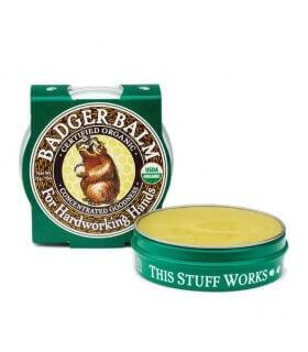 Baume régénérant pour mains abîmées Handworking Badger Balm Certifié organic