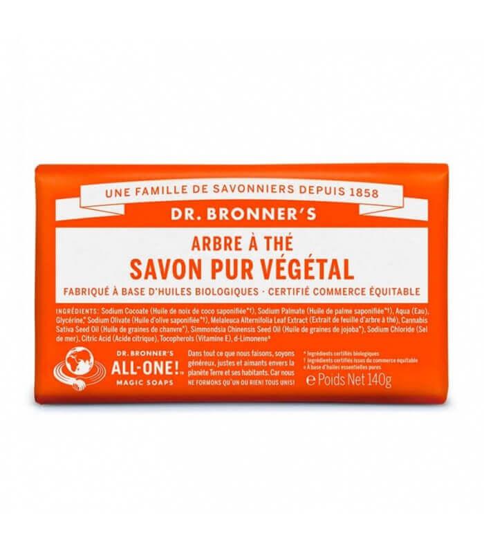 Savon pur Végétal Arbre à Thé Dr Bronner's 100% Biodégradable