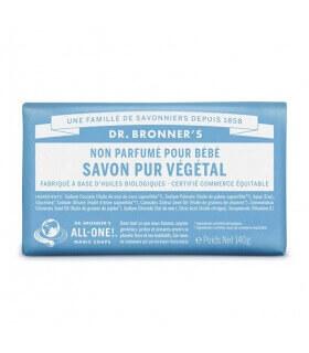 Savon pur Végétal Non Parfumé Dr Bronner's 100% Biodégradable
