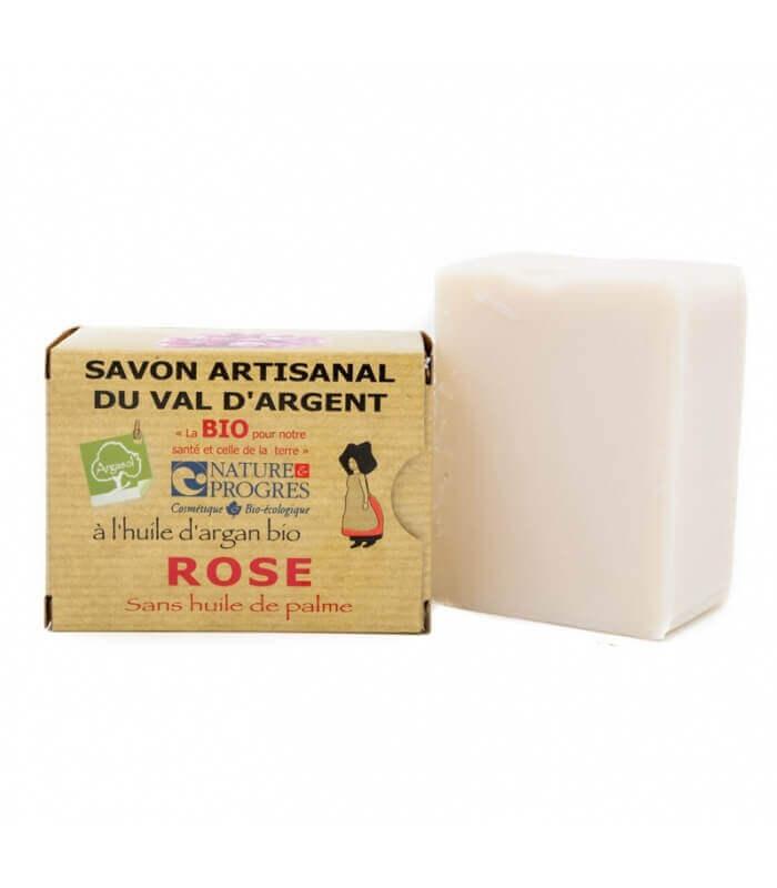 Savon Bio à la Rose et Argan Bio