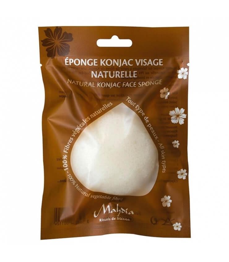 Éponge Konjac visage à l'Argile Blanche Mahdia