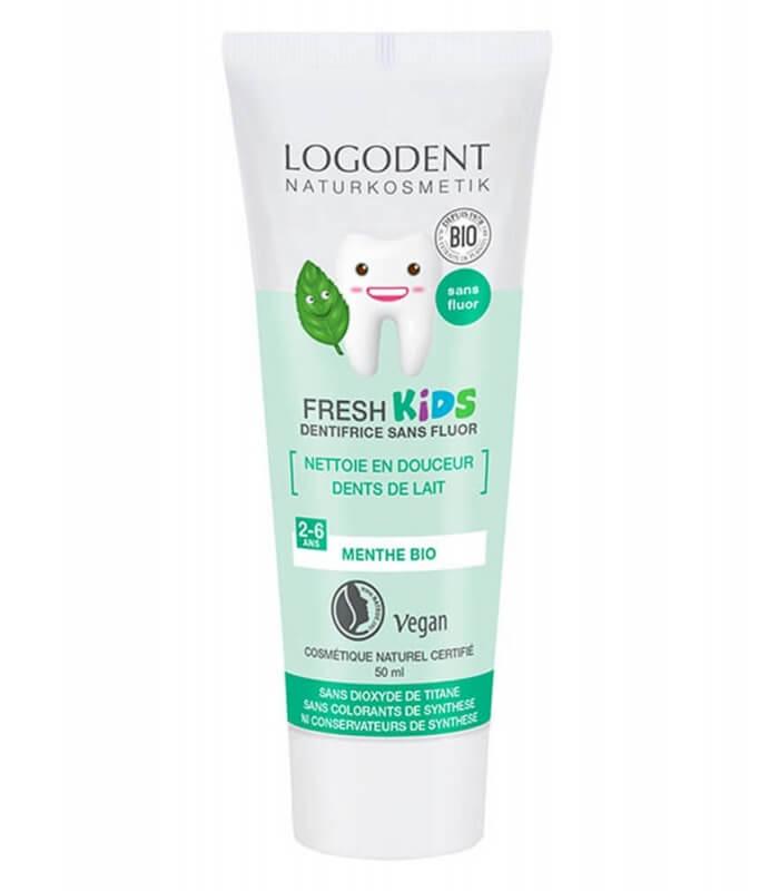 Dentifrice Fresh Kids à la Menthe - Pour dents de lait - logona