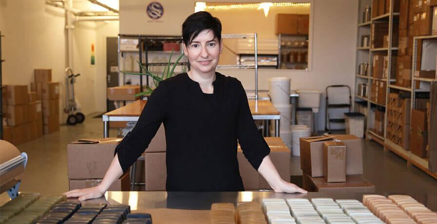 Rachel Winard, fondatrice de la marque Soapwalla