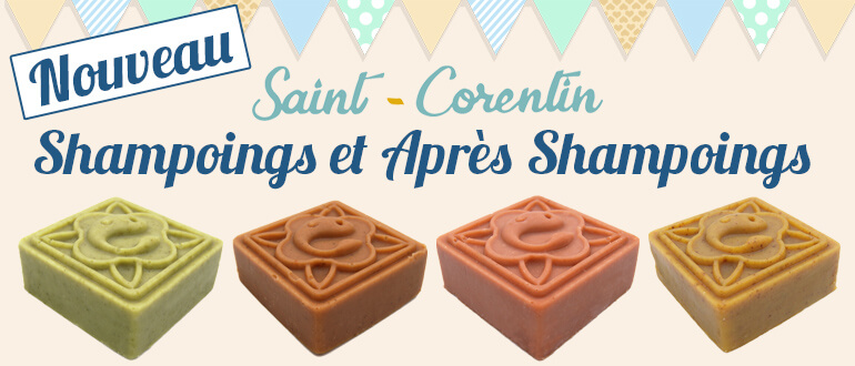 shampoing solide et après shampoing solide marque Saint Corentin