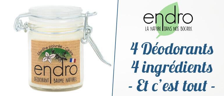 déodorants naturels Endro